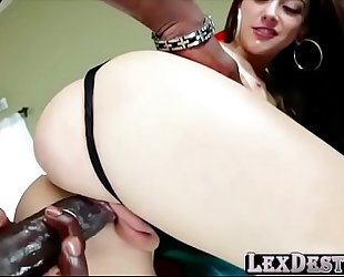 Pale and brunette hair beauty mandy muse in anal scene with lexington
