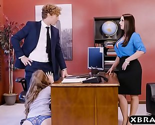 Office three-some with 2 bosses and a hawt employee