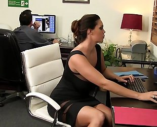 Such excellent eye candy at such a tiny office hd