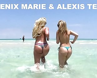 Alexis texas and phoenix marie go to the beach, and then fuck! (ap8307)
