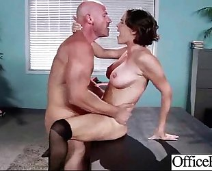 Hot large juggs white wife (krissy lynn) hard gangbanged in office clip-19