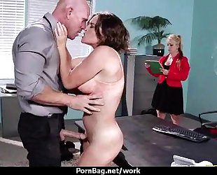 Busty sweetheart fucking her boss in the office 26