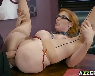 Hot secretary lauren phillips bangs in the office