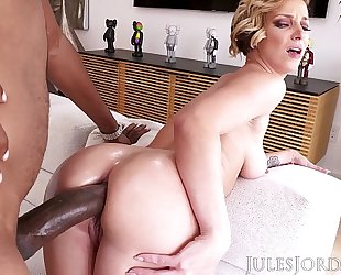Jules jordan - jada stevens large butt dominatrix-bitch is back for greater amount bbc in her legendary a-hole
