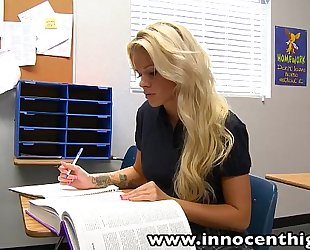 Innocenthigh halloween special: hawt blond jess rhodes drilled in the black