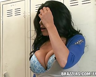 Brazzers.com - locker room three-some