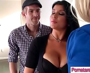 (romi rain & melissa may) pornstar ride giant shlong in hardcore sex tape clip-29