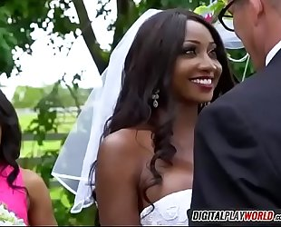 Black slutty wife diamond jackson engulfing spouse tony d on wedding day