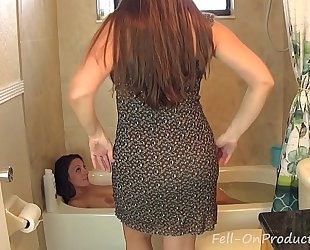 Madisin lee & melanie hicks in mama washes daughters hair. black cock sluts on slutty wife hair wash