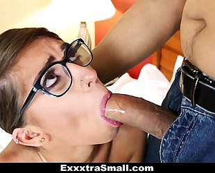 Exxxtrasmall - small-frame sweetheart bonks the parking attendant
