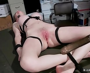 Blonde receives hard arse spanked and whipped