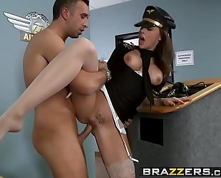 Brazzers.com - large bra buddies in uniform - the one mile high club scene starring chanel preston and keiran le