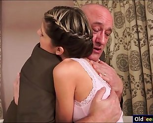 Teen doris ivy seduces her aged stepdad