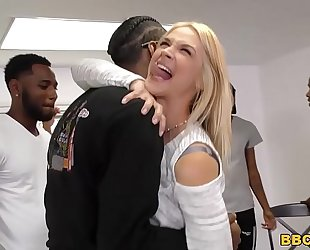 Interracial group sex with anal floozy sarah vandella
