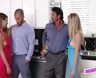 Blowing dad arya faye and jill kassidy