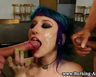 Goth punk amateur wife fuck and facial