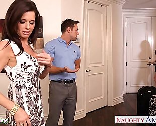 Brunettes india summer and veronica avluv share a large shlong