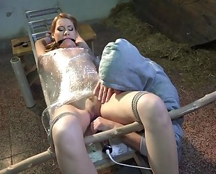 Amateur vixen with small cans gets tied up and tortured