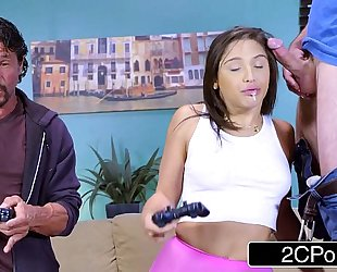 Nerdy sybian gamer white bitch abella danger mmf orall-service